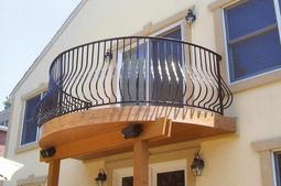 Custom Wrought Iron Aluminum Railing Gate Fence Bucks